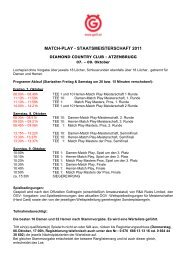 match-play - staatsmeisterschaft 2011 - Österreichischer Golf-Verband