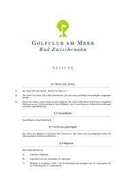 Satzung (PDF) - Golfclub am Meer