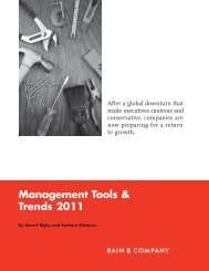 Management Tools & Trends 2011 - Bain & Company