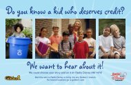 We want to hear about it! Do you know a kid who deserves credit?