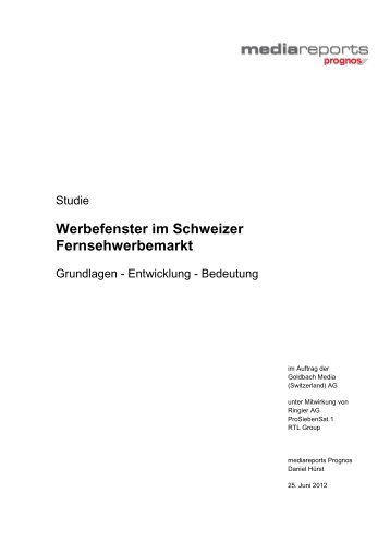 Prognos Studie 2012 - Goldbach Media