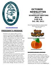 OCTOBER NEWSLETTER - Gold Coast Bonsai Society