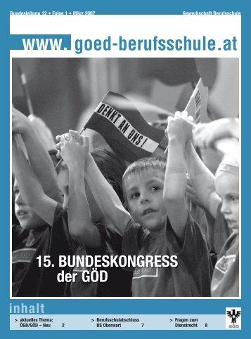 S Der GÖD - Bundessektion 12 Berufsschullehrer