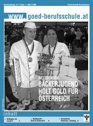 WEttBEWErB: BäcKErjuGEnd Holt Gold Für ÖstErrEicH