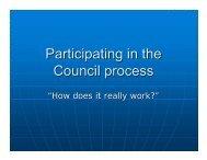 Attending a Council Meeting