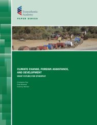 climate change, foreign assistance, and development - Transatlantic ...