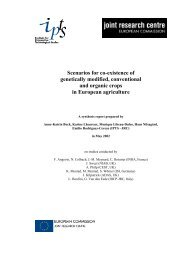 Scenarios for co-existence of genetically modified ... - GM Free Ireland