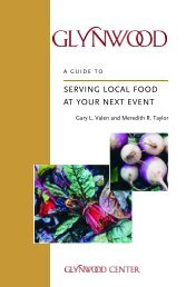 Guide to Serving Local Food at Your Next Event - Glynwood