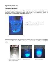 2010 Experimente mit UV-Licht