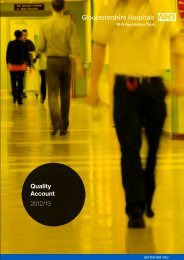 Quality Account 2012/13 - Gloucestershire Hospitals NHS Trust