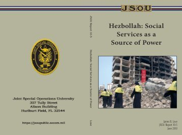 Hezbollah: Social Services as a Source of Power - GlobalSecurity.org