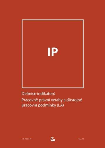 Definice indikátorů Pracovně právní vztahy a důstojné pracovní ...