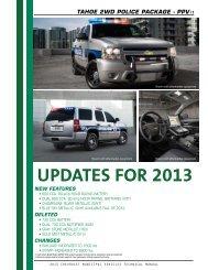 2013 Tahoe Technical Guide (pdf) - GM Fleet