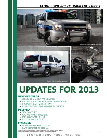 2013 Tahoe Technical Guide (pdf) - GM Fleet