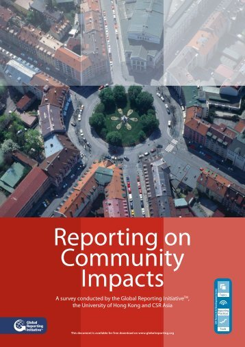 Reporting on Community Impacts - Global Reporting Initiative