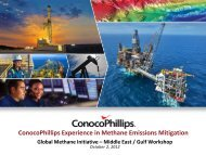 ConocoPhillips Experience in Methane Emissions Mitigation