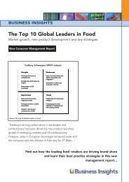 Top 10 Global Leaders in Food Launch - Business Insights