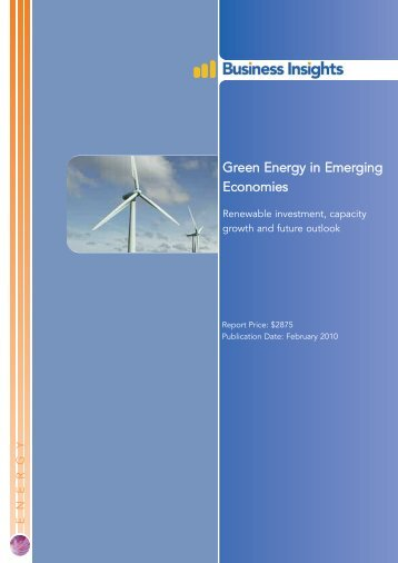 Green Energy in Emerging Economies - Business Insights