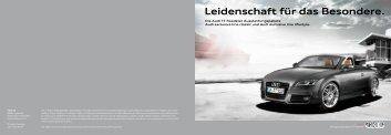 Leidenschaft für das Besondere. - Audi