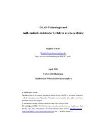 OLAP-Technologie und mathematisch ... - Global Innovation