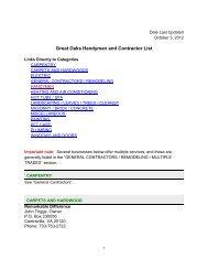 Great Oaks Handyman and Contractor List - Goha.us