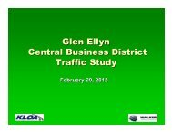 Glen Ellyn Central Business District Traffic Study - The Village of ...