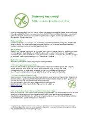 Richtlijn voor de Horeca - Nederlandse Coeliakie Vereniging