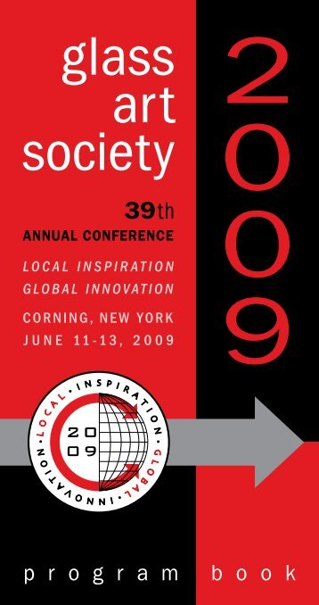 2009 Conference Program Book - Glass Art Society