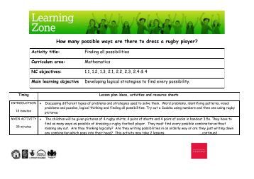 How many possible ways are there to dress a rugby player - Lesson ...