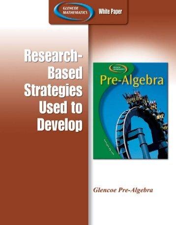 Pre-Algebra - Glencoe