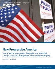 New Progressive America Report (PDF) - Glaser Progress Foundation