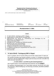 Rundschreiben 3 / 2004 1. 10 Jahre GKinD - Fachtagung 2005 in ...