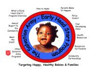 Targeting Happy, Healthy Babies & Families - Salvation Army