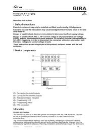 1 Safety instructions 2 Device components 3 Function - Gira