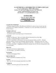 Mars 2013 - Global Retail Newsletter