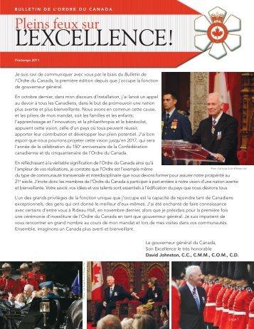 Printemps 2011 - Le gouverneur général du Canada
