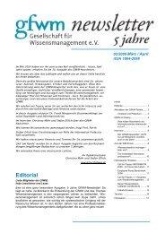 Editorial - GfWM - Gesellschaft für Wissensmanagement eV