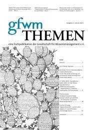 gfwm-2013-01 - GfWM - Gesellschaft für Wissensmanagement eV
