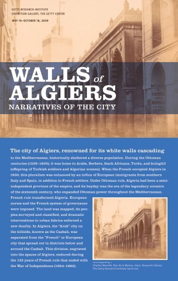 The city of Algiers, renowned for its white walls cascading - The Getty