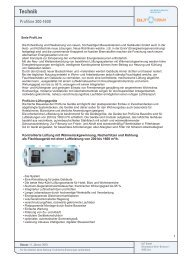 Technik Profiline 200 - 1600 - GLT Austria