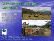 CLIVET Status and Next Challenges - Geus