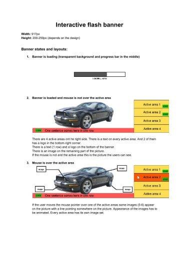 Interactive flash banner - GetACoder