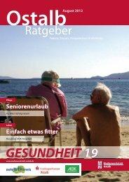 Ostalb Ratgeber 18 - Pflege / Leben 08/2012 - Gesundheitsnetz ...