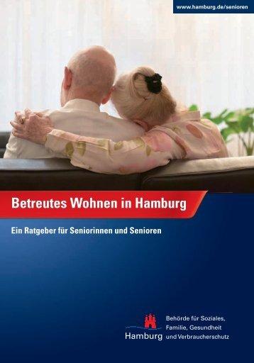 """Broschüre """"Betreutes Wohnen in Hamburg - Ein Ratgeber für"""