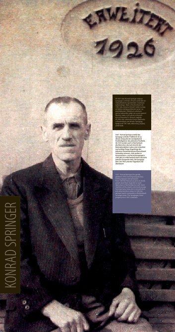 W 1937 roku Konrad Springer nabywa synagogę i cmentarz. W tym ...