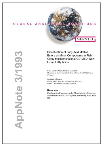 Identification of Fatty Acid Methyl Esters as Minor ... - Gerstel