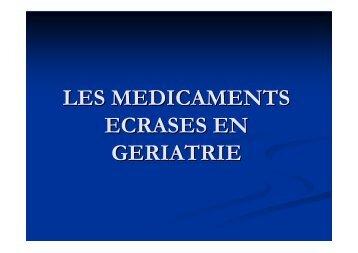 médicaments écrasés - Geronto-Normandie