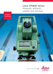 Leica TPS800 Brochure - Northern Survey Supply