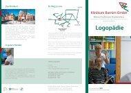 Flyer Logopädie - GLG Gesellschaft für Leben und Gesundheit mbH