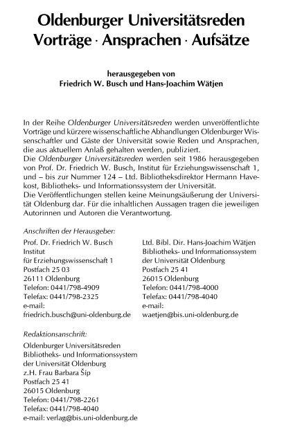 Dokument 1.pdf - oops - Carl von Ossietzky Universität Oldenburg